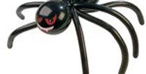 Black Spider Balloon & Pump - Latex (each