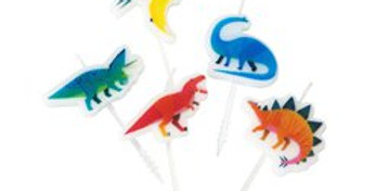 Little Party Dino Birthday Candles (5pk)