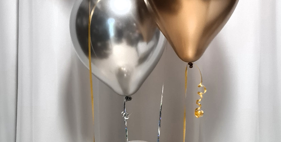 4xchrome latex incl.helium and below centrepiece