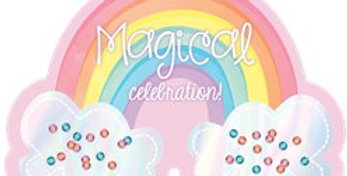 Magical Rainbow Party Invitation Cards (8pk)