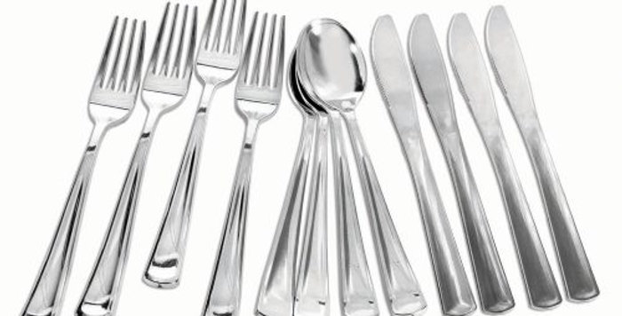 Silver Plated/ gold / rosegold Cutlery ( 12 pack)