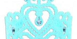 Blue Gem Heart Tiara