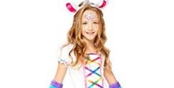 Rainbow Unicorn - Child Costume includes Arm warmers,leg warmers,dre