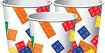 Block Party Cups - 255ml Paper Party Cups (8pk)