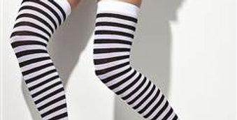 Black & White Striped Stockings
