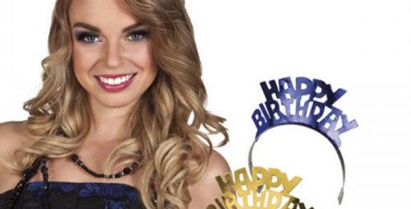 Glittery happy birthday Tiara Paper