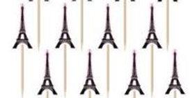 A Day in Paris Eiffel Tower Printed Paper Picks (36pk)