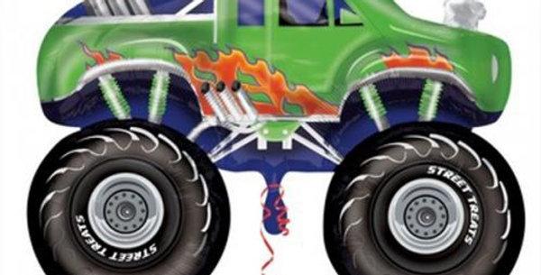 Supershape Monster Truck Green Foil Balloon