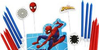 Spider-Man Candle Topper Set(17pk)