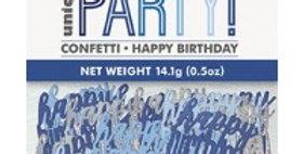 Blue Birthday Glitz Confetti - 14g bag (each)