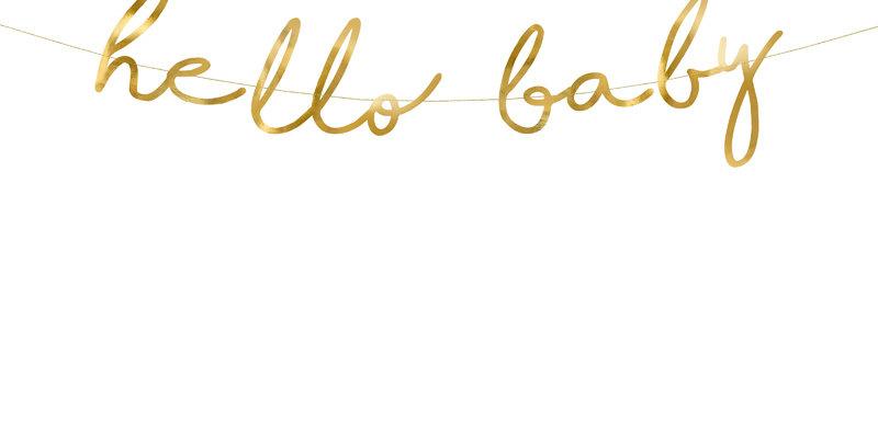 Banner Little Star - Hello Baby, gold, 18x70cm