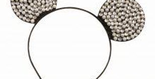 Mouse Ears Rhinestone + Pearl