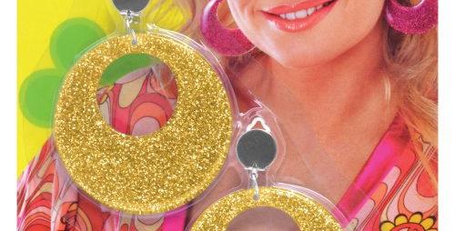 Gold Mod Glitter Earrings