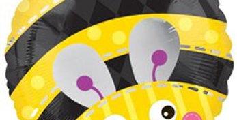 Cute Bumble Bee Round Balloon - 18'' Foil (each)