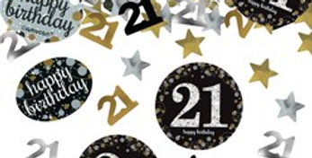 Pink/ gold  Celebration Age 21 Confetti - 34g (each)