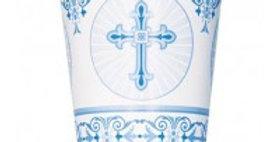 blue Radiant Cross 9oz Cups 8ct