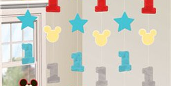 Baby Mickey Fun One String Decoration (6pk)