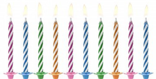 Birthday candles Magic, mix, 6cm  Birthday candles Magic, mix of colours, size a