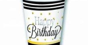 Birthday Elegant Cups 8pk