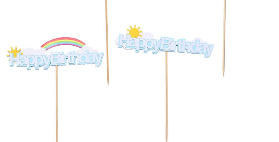Birthday  cake topper approx height 15cm