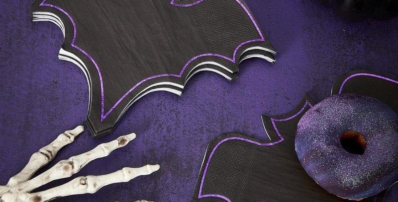 BAT HALLOWEEN PAPER NAPKINS - LET'S GET BATTY   16pk