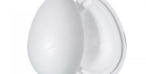 20cm polistyrene egg pk of 2 halves