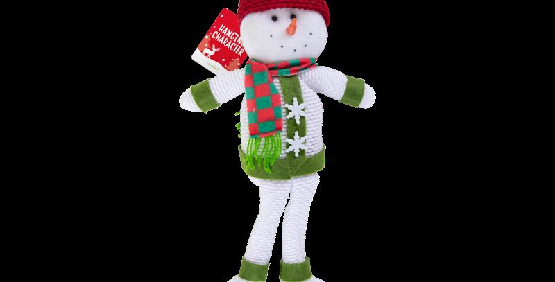 Hanging Christmas Character Decoration snowman/santa