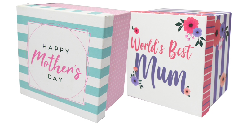 These Mothers Day Gift Boxes are constructed from 1200gsm card and feature full