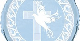 Dove And Cross Confirmation 18inch blue Foil