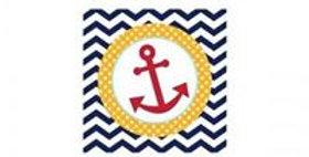 Ahoy napkins 25x25cm 18pk