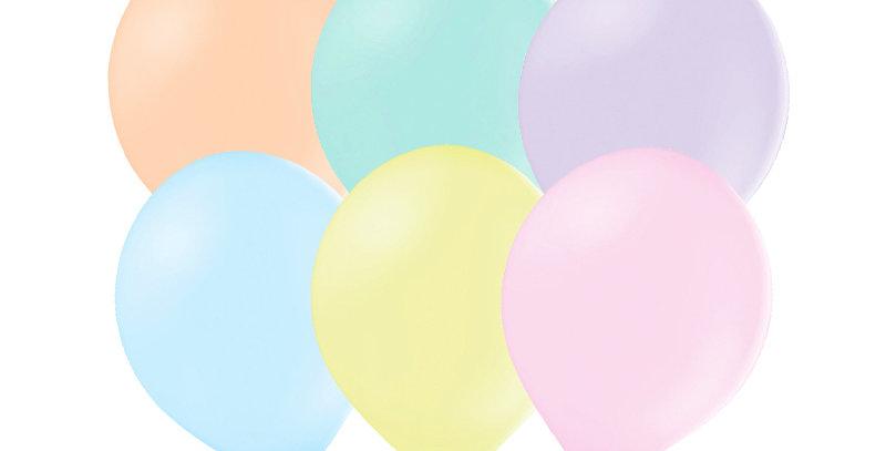 Strong Balloons, Pastel Mix (Light Blue, Light Lilac, Light Yellow, Light Mint,