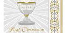 Silver & Gold Radiant Cross First Holy Communion Napkins - 33cm  16pk