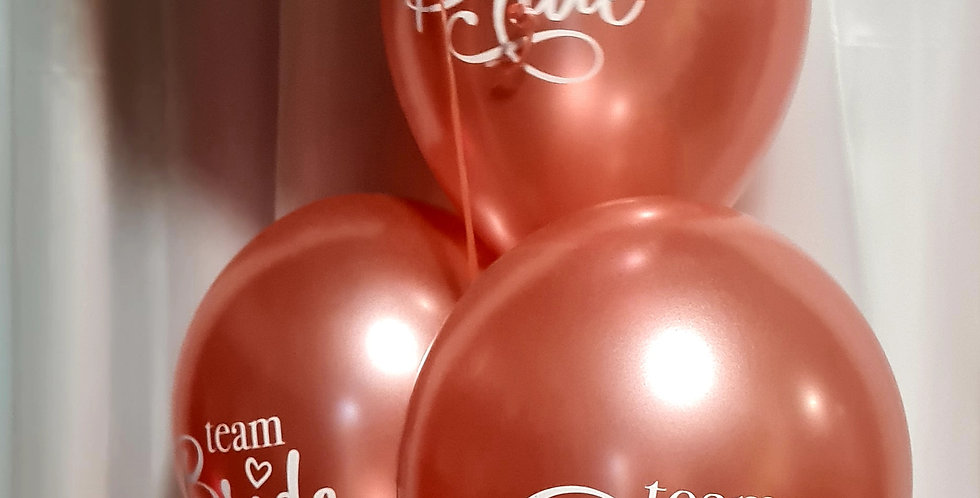 Bride to be  bunch of 6 latex balloons & 1 foil balloon including helium
