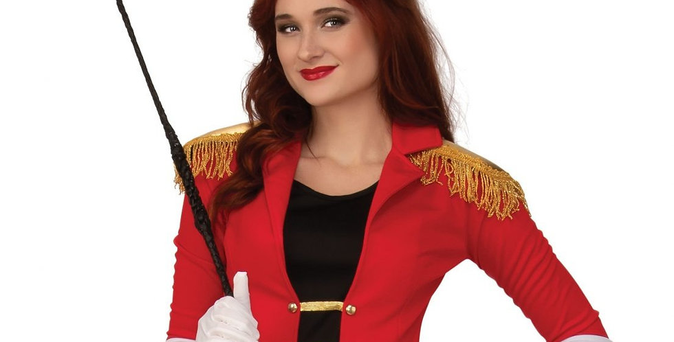 RINGMASTER female costume Jacket with attached top, Skirt, Leggings and Hat