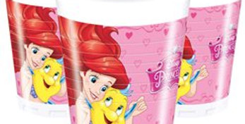 Disney Princess Cups - 200ml Plastic Party Cups (8pk)