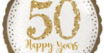 """50th Anniversary Foil Balloon - 18"""""""
