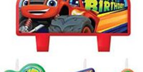 Blaze and the Monster Machines Birthday Candles (4pk)