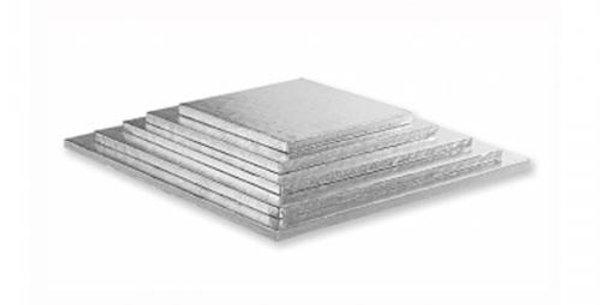 cake base silver square 25x25cm