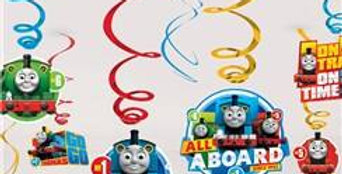 Thomas the Tank Hanging Decorations - Hanging Swirls (12pk)