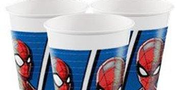 Spiderman Team Up Plastic Cups - 200ml   8pk