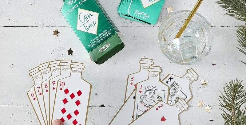 GIN SHAPED PLAYING CARDS GIFT - GINGER GAMES