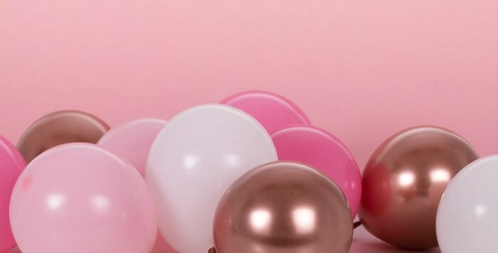 BLUSH AND ROSE GOLD BALLOON MOSAIC BALLOON PACK  Code:MIX-470    > Use these 5i