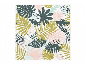 Napkins Aloha - Leaves, 33x33cm  Paper napkins Aloha with leaves print, size af