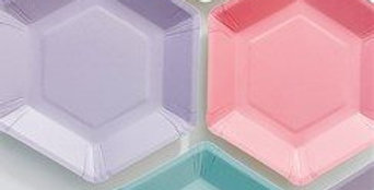 Pastel Mix Hexagonal Plates