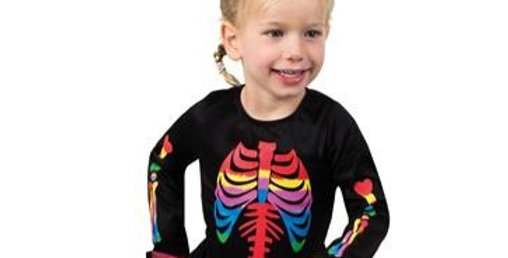 Brightly Bony - Child Costume ages 3-4 years includes dress only
