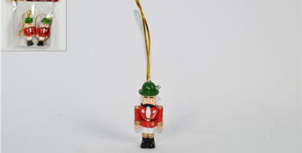 Hanging wooden Toy Soldiers 5.5cm 2pk