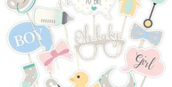 Baby Wishes Photo Booth Props (each)