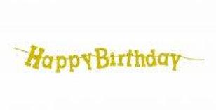 Birthday Diamond Banner Gold