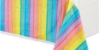Magical Rainbow Plastic Tablecover - 1.4m x 2.4m (each)