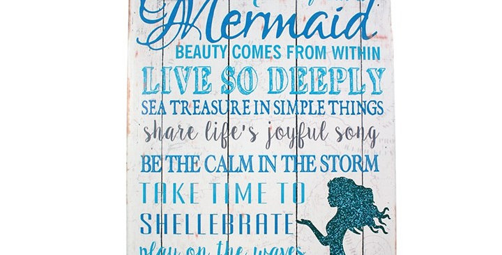 ADVICE FROM A MERMAID METAL SIGN